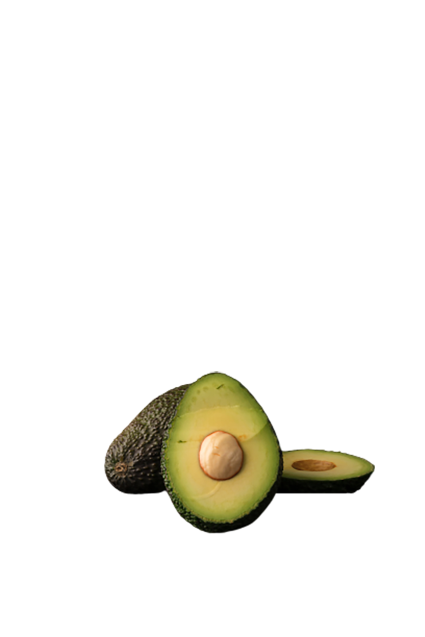 Pieces of green Avocado transparent background PNG