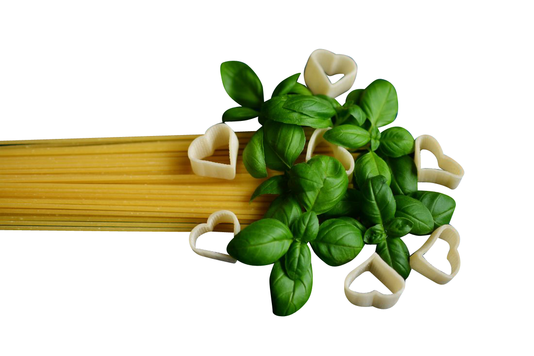 Spaghetti Pasta Mint Leaves Transparent Background PNG