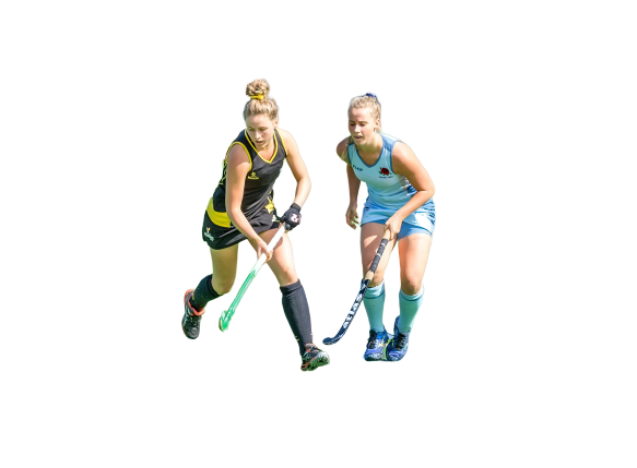 Girls Playing hockey transparent background PNG