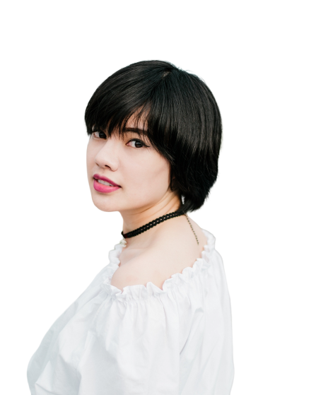 Girl with short hairs Transparent Background PNG