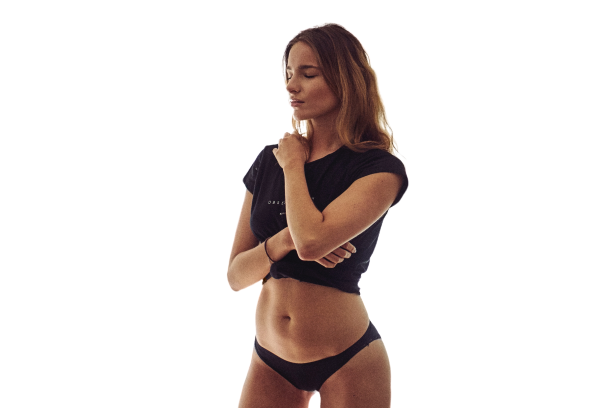 girl pic with black shirt transparent background PNG
